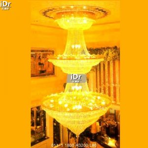 gold font b Chandeliers b font Modern hotel lobby lamp crystal lamp lighting lamps polished gold