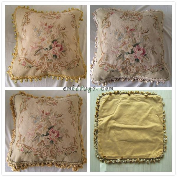 handmade pillow case seat wool and silk aubusson font b cushion b font font b cover