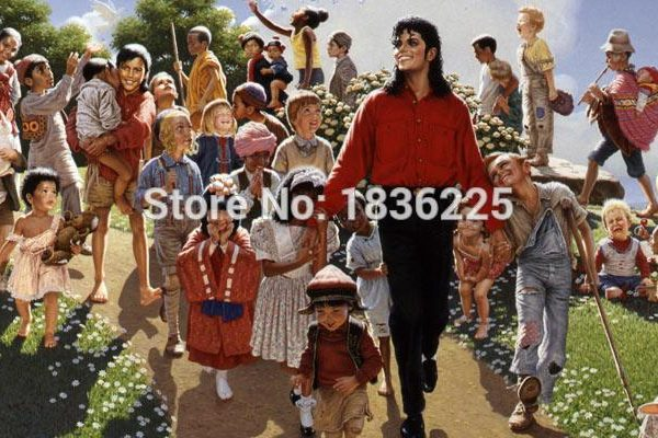 house decoration products interior decorat michael jackson oil painting family naturalism font b wallpapers b font