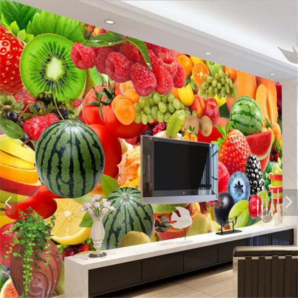 papel de parede Fruit tooling backdrop custom font b wallpaper b font murals TV backdrop font
