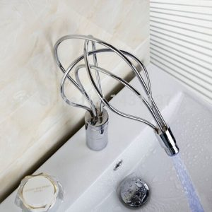 top high quality new arrival brass material single lever chrome plating LED bathroom sink tap font
