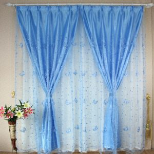 window font b Curtains b font blue purple pink yellow quality embroidered screens finished product balcony