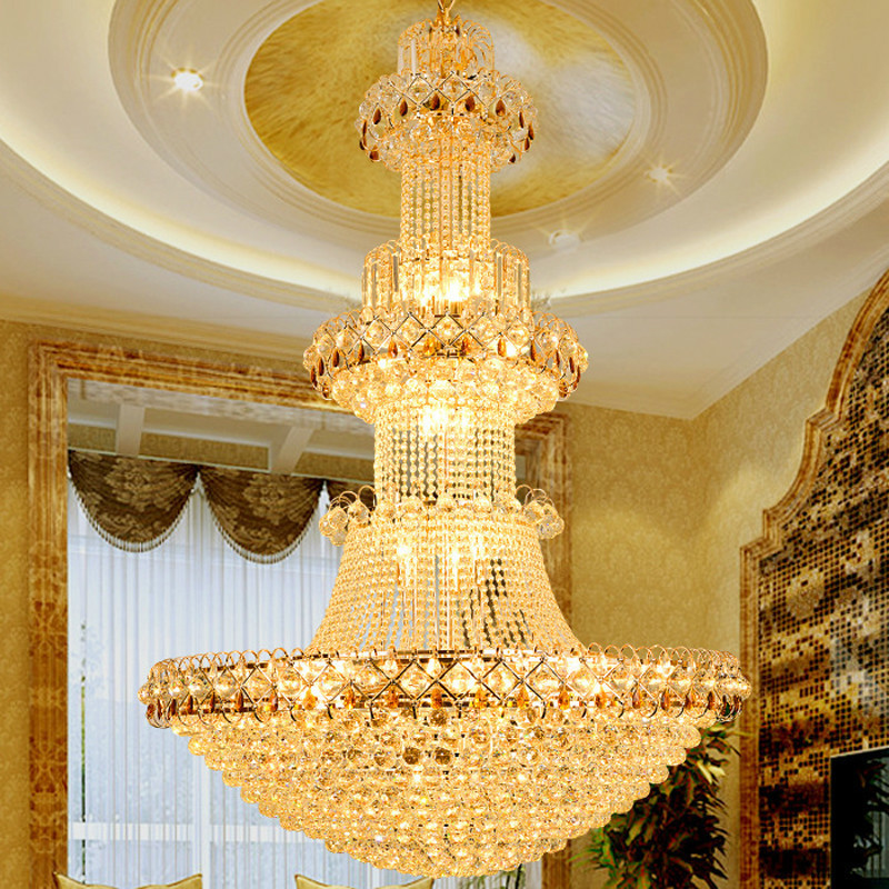 Modern Luxury Europe Large Gold Luster K9 Led Crystal